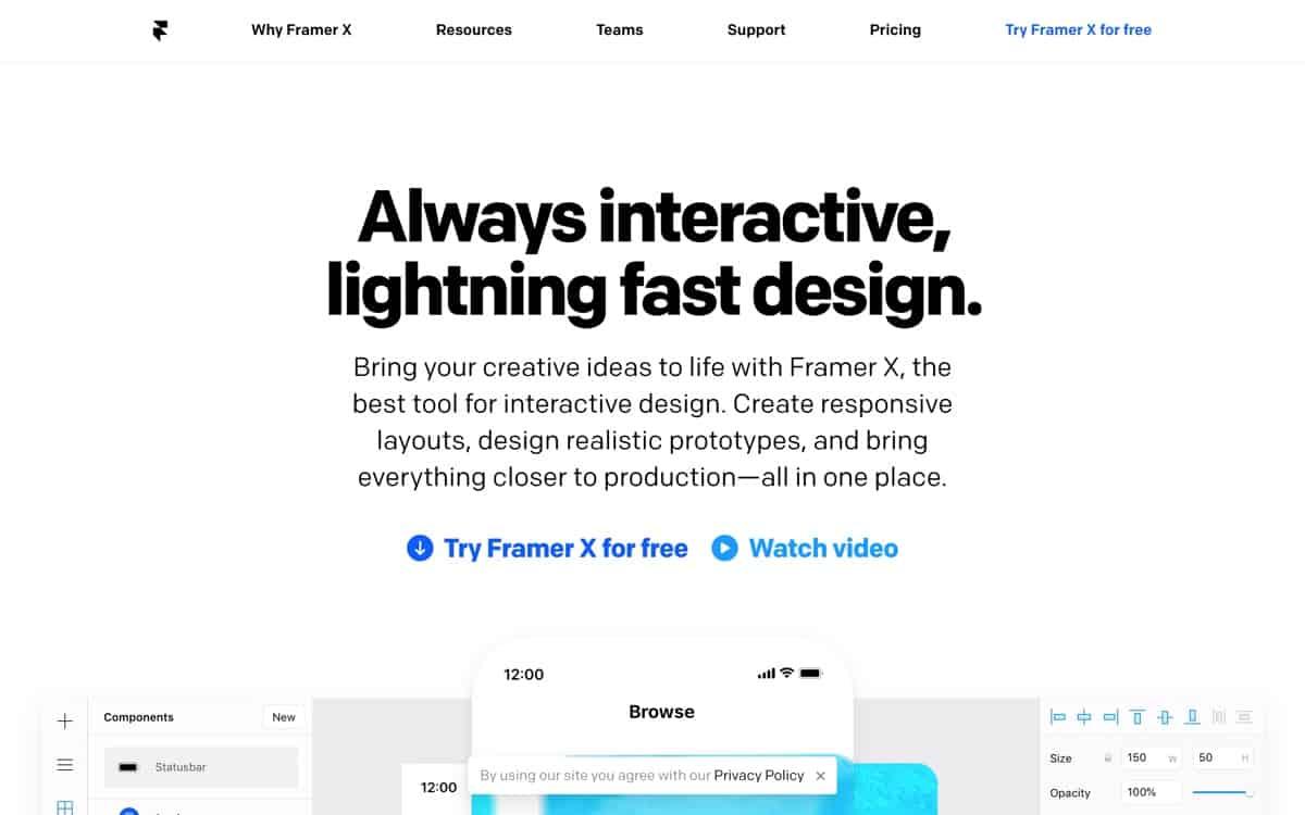 Framer website